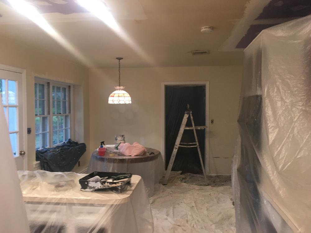 Residential interior painting on beech dr in morris plains nj