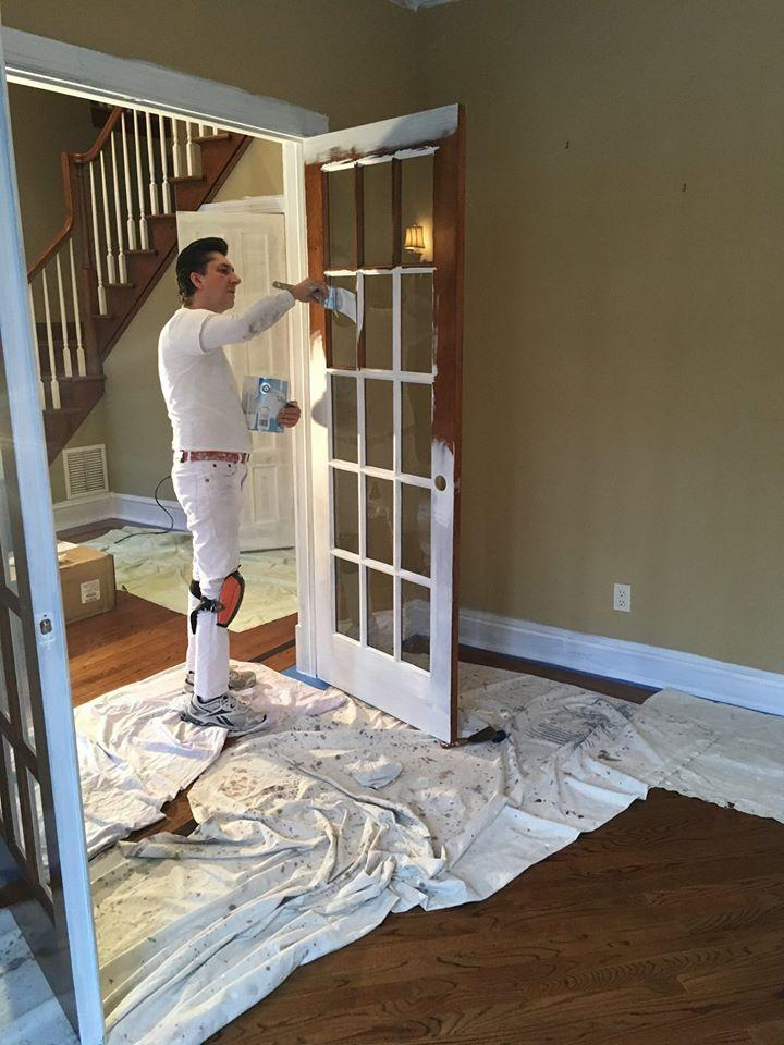 Interior residential painting on longview ave in towaco nj