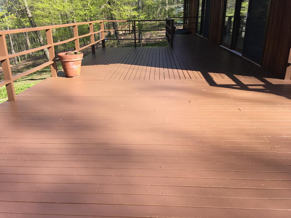 Residential exterior painting and deck staining on holly ln in boonton nj