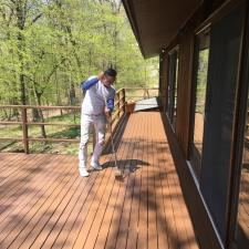 Residential exterior painting and deck staining on holly ln in boonton nj 003