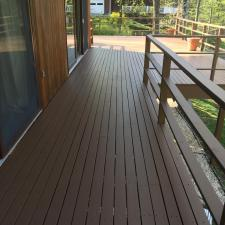 Residential exterior painting and deck staining on holly ln in boonton nj 004