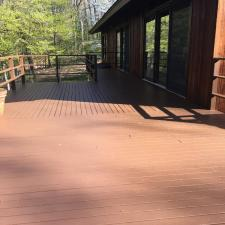 Residential exterior painting and deck staining on holly ln in boonton nj 006