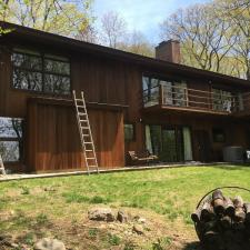 Residential exterior painting and deck staining on holly ln in boonton nj 008
